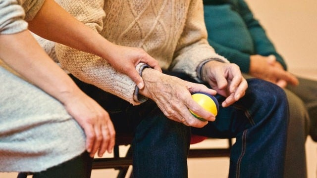 Picture of elderly person's hand for our nursing home blog